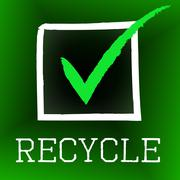 Tick recycle representing eco friendly and ok Stock Illustration