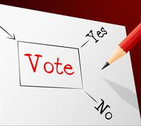 Vote choice meaning confusion voting and evaluation Stock Illustration
