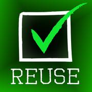 reuse tick showing go green and confirm - stock illustration