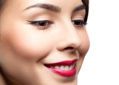 woman face make-up - stock photo