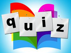 questions quiz representing information asked and puzzle - stock illustration