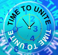 Time to unite meaning team work and cooperation Stock Illustration