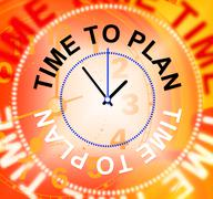 Stock Illustration of time to plan showing goals aspirations and target