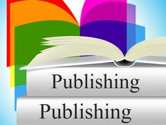 books publishing meaning press e-publishing and non-fiction - stock illustration