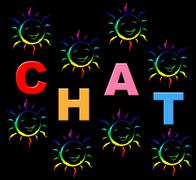 Chat kids representing chatting typing and messenger Stock Illustration