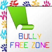 Bully free zone showing no bullying and cyberbullying Stock Illustration