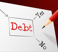Choice debt representing financial obligation and finance Stock Illustration