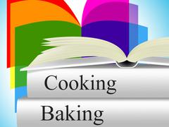 Stock Illustration of baking cooking showing baked goods and meals