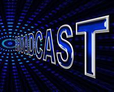 Internet transmit indicating world wide web and website Stock Illustration