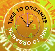 Stock Illustration of time to organize showing managed manage and management