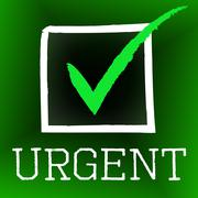 tick urgent meaning instant ok and approved - stock illustration