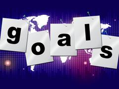 goals targets meaning projection mission and aspiration - stock illustration