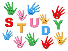 Education kids representing study university and studying Stock Illustration