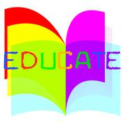 Educate education showing learning develop and school Stock Illustration
