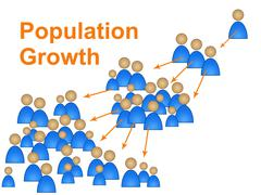 population growth representing newborn family and reproduction - stock illustration