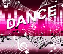 Dancing dance meaning sound track and soundtrack Stock Illustration