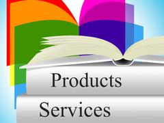 products books showing shopping goods and non-fiction - stock illustration