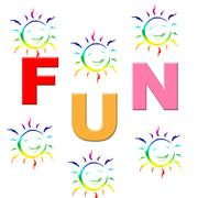 Stock Illustration of fun joy showing kids toddlers and happy