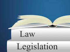 legislation law indicating lawyer litigation and statute - stock illustration