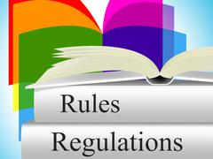 rules regulations meaning guidelines procedures and regulate - stock illustration