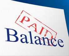 Balance paid showing equal value and equality Stock Illustration