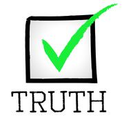 Stock Illustration of truth tick representing truly verifiable and true