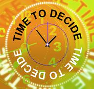Stock Illustration of time to decide representing voting choose and undecided