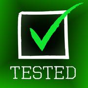 Tick tested representing excellence pass and endorsed Stock Illustration