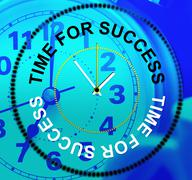 Time for success meaning succeed progress and victor Stock Illustration