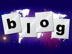 blog world meaning globally blogging and online - stock illustration