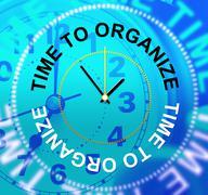time to organize indicating structured arrange and organizing - stock illustration
