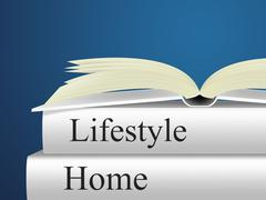 home lifestyle representing apartment house and houses - stock illustration