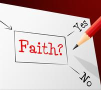 Choice faith meaning holy believe and alternative Stock Illustration
