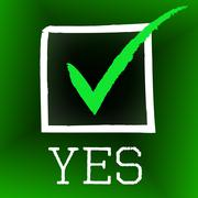 Stock Illustration of yes tick representing all right and agree