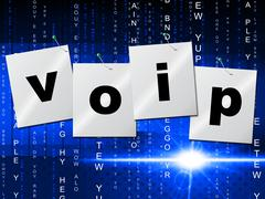 voip communication showing voice over broadband and communications - stock illustration