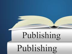 publishing books representing publisher fiction and publication - stock illustration