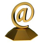 email icon statue - stock illustration