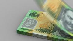 Counting Australian Dollar Stock Footage