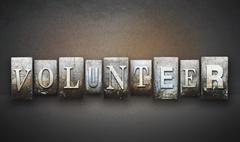 Volunteer letterpress Stock Illustration