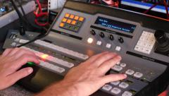 Video mixer Production Stock Footage