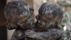 Stock Video Footage of Statue of Cherubs