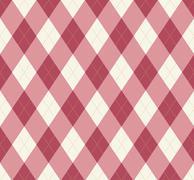 Seamless argyle pattern. diamond shapes background. Stock Illustration
