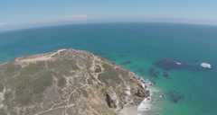 Aerial Shot of Point Dume in Malibu Stock Footage