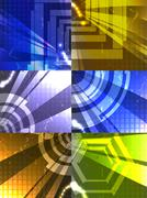 Set for abstract vector background Stock Illustration