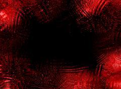 red glassy frame - stock illustration