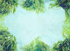 Geen blue eco border Stock Illustration