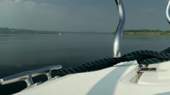 Motorboat on the Lake - 4K UHD, Motorboot auf dem See Stock Footage
