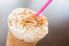 Whip Cream Frappe Coffee Stock Photos