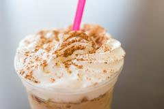 Whip Cream Frappe Coffee - stock photo