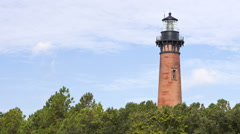 Currituck Lighthouse In Corolla, North Carolina (Timelapse) Stock Footage